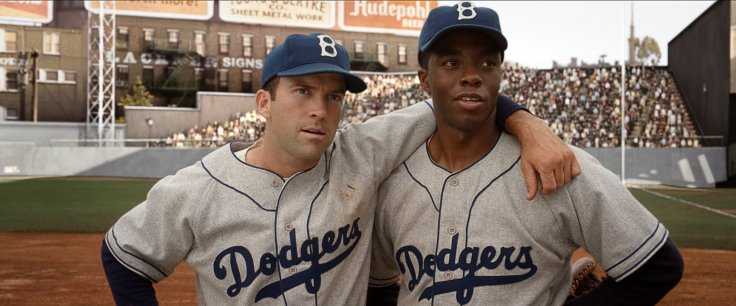 42 movie. Jackie Robinson. baseball. MLB. racism. hate.