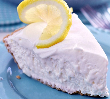 Frozen Lemonade Pie. Summer. Easy. Recipe.