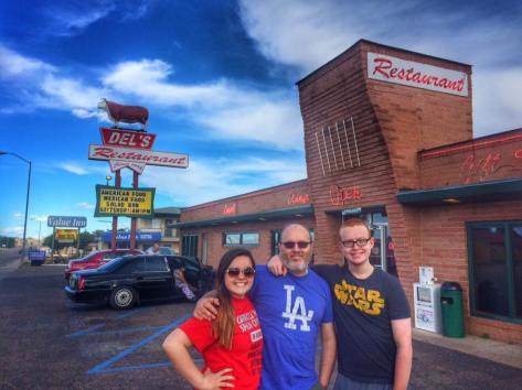 "Del's Restaurant in Tucumcari, NM. Travel Snack Boxes - ""Road trips and food – what to pack and where to eat."" Travel. Kids. Family. Summer."