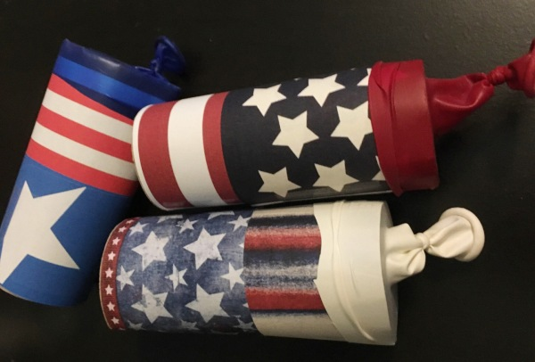 4th of July Confetti Launchers. Kids. Independence Day. Crafts. Family. Children. Summer. Cheap.