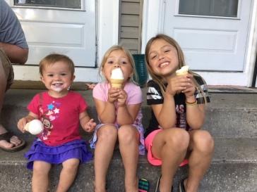 Amy's three sparkly girls