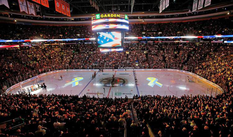 Boston Bruins National Anthem. Boston Marathon bombing.