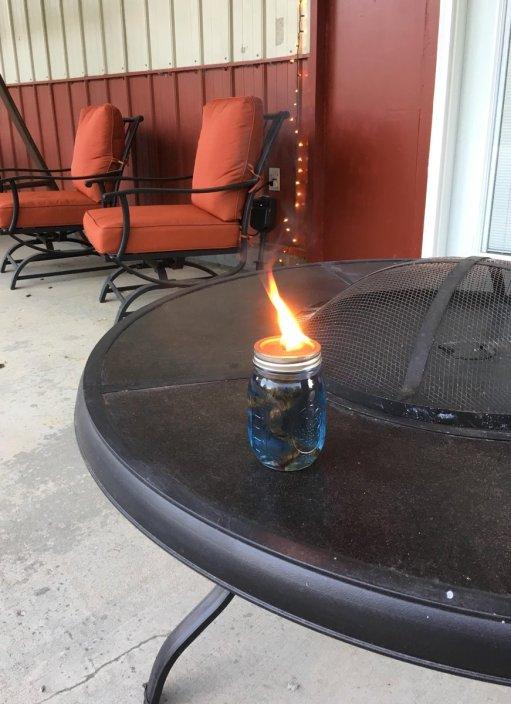 Mason Jar Citronella Candles. Summer. Outdoors. Family. Kids. Mason Jars.