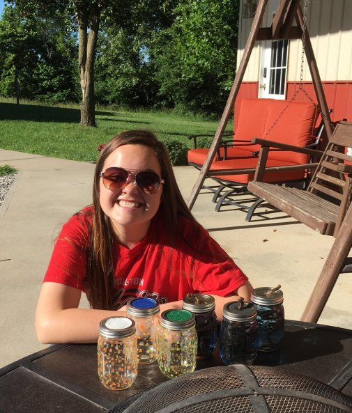 Mason Jar Fairy Lights. Summer. Crafts. Kids. Cheap. Fun. Mason Jars.