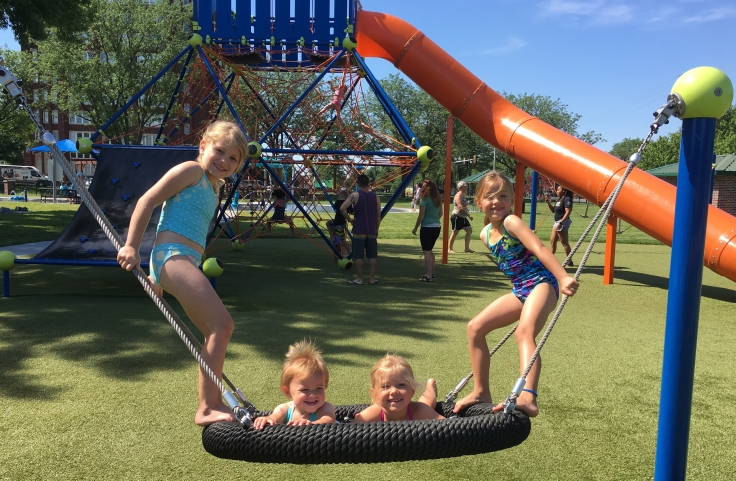 Dagg Park Splashground in North Kansas City. Hidden Gems. Missouri. Summer. Kids. Family. Adventure. Free.