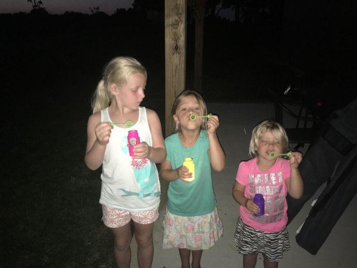 Glow in the Dark Bubbles. Pinterest. Summer Fun. Family. Kids. Children. Outdoors.