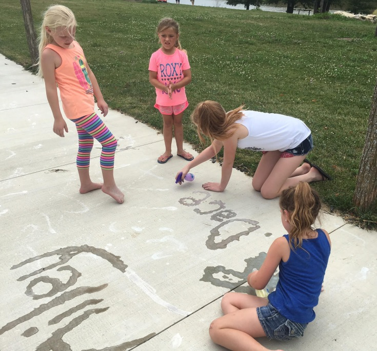 Spray Sidewalk Chalk. Pinterest. Summer Fun. Family. Kids. Children. Outdoors. #PinterestFail