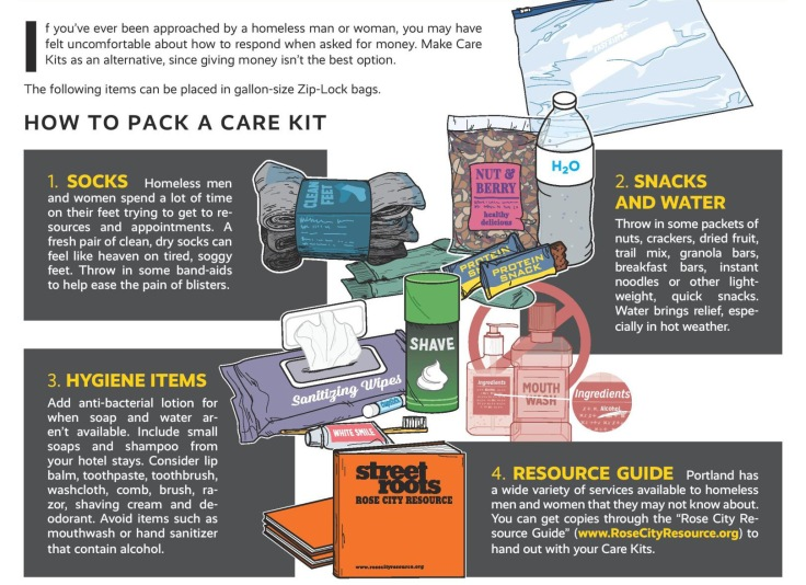 How to Pack a Comfort or Care Kit. Homeless. Road Trip. Summer. Travel. Serving Others.