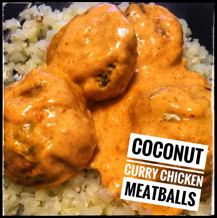 Coconut Curry Chicken Meatballs