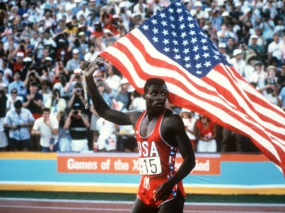 Carl Lewis in the 1984 Olympics